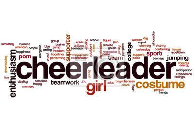 Obraz Chmura słowo cheerleaderka