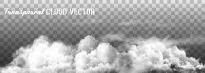 Obraz Chmury wektorowe na przezroczystym tle.