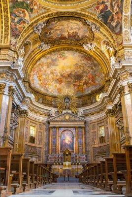Obraz Chór Bazyliki Il Gesu w Rzymie, Włochy