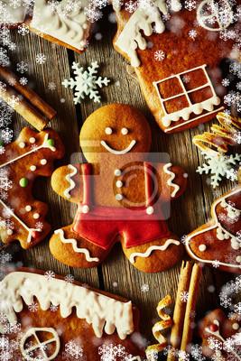 Obraz Christmas domowych pierniki plików cookie