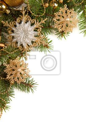 Christmas granicy samodzielnie na białym tle