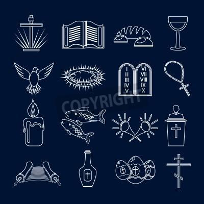 Obraz Chrzescijanstwo Tradycyjne Swiete Symbole Religijne Zarys