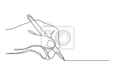 Obraz ciągły rysunek linii linii rysunku za pomocą pióra