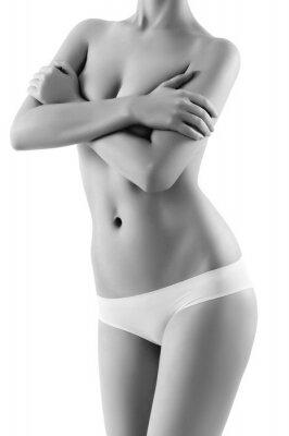 Obraz Ciało kobiety na białym tle
