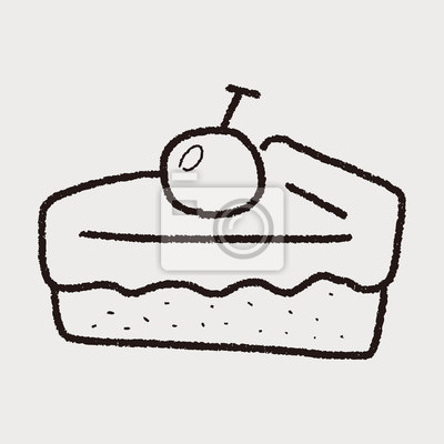 Obraz Ciasto doodle