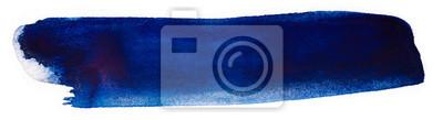 Obraz ciemnoniebieska plama akwarela na białym tle