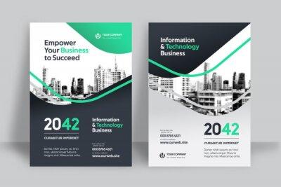 Obraz City Background Business Book Cover Design Template