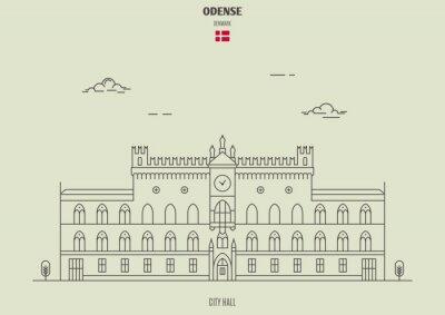 City Hall in Odense, Denmark. Landmark icon