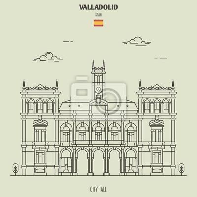 City Hall in Valladolid, Spain. Landmark icon