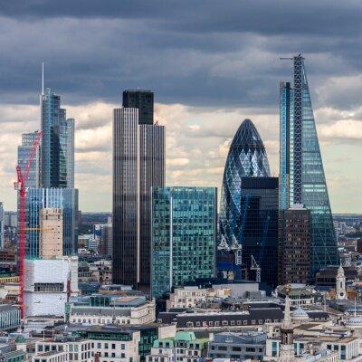 Obraz City of London w godzinach popołudniowych