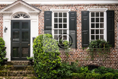 Obraz Classic brick house architecture, Charleston, South Carolina. USA