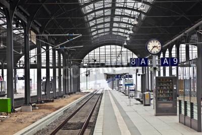 Obraz classicistical dworzec kolejowy w Wiesbaden, Niemcy