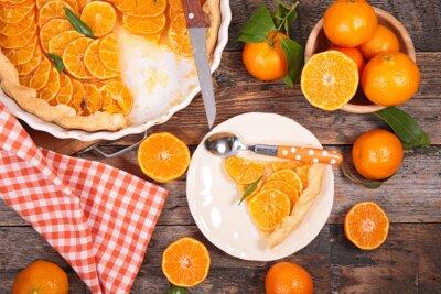 Obraz Clementine domowe tart i owoców
