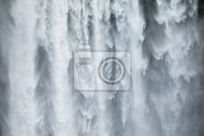 Obraz Close-uo of Skogafoss waterfall in Iceland, Europe.
