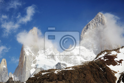 Close up picture of the Fitz Roy Mountain, Los Glaciares National Park, Argentina.