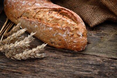 Obraz Close-up z tradycyjnej domowej roboty chleb