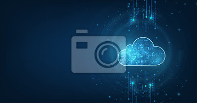 Obraz Cloud computing concept.Abstract cloud connection technology background.