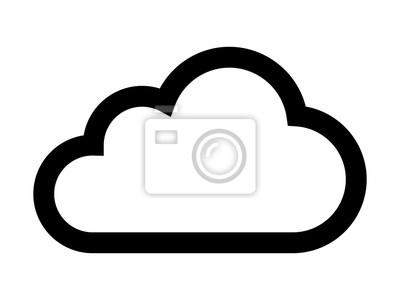Obraz Cloud Storage napędu lub cumulus linii sztuki ikonę