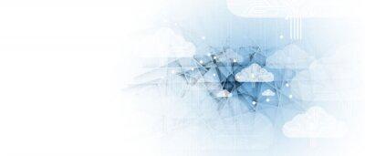 Obraz Cloud technology. Integrated digital web concept background