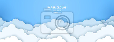 Obraz Clouds on blue sky banner