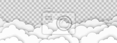 Obraz Clouds on transparent background