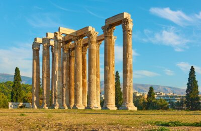 Obraz Clumns of Zeus temple in Athens in Greece