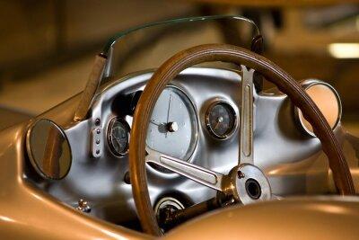 Obraz Cockpit eines alten Sportwagens