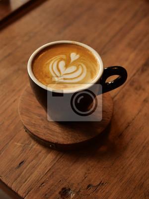 Obraz coffee latte art in coffee shop