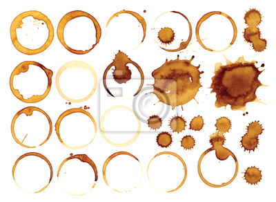 Obraz Collection vector stains of coffee for grunge design