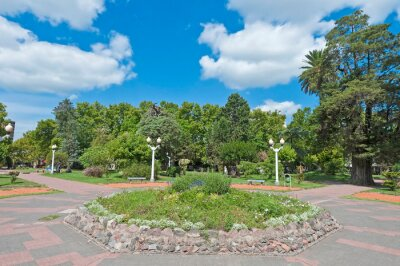 Colon square, one of the biggest parks at Lujan near Buenos Aires, Argentina