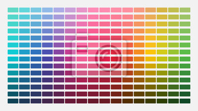 Obraz Color palette. Table color shades. Color harmony. Trend colors. Vector illustration