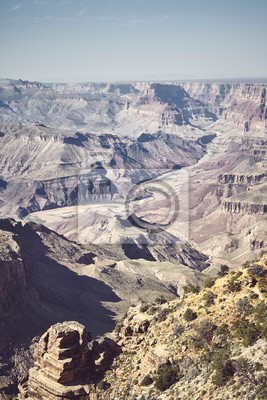 Color toned picture of Grand Canyon, Arizona, USA.