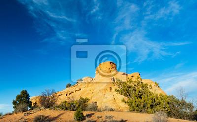 Colorado National Monument tle niebieskiego nieba
