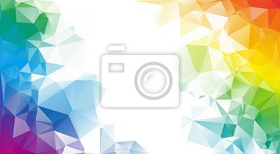 Obraz Colorful rainbow polygon background or vector frame