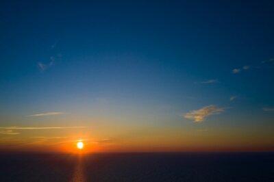 Obraz Colorful sky after the sunset. Natural Sky Background.