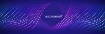 Obraz Colorful sound waves. Digital music waves equalizer. background blue. Music background vector concept.