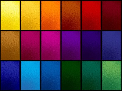 Obraz Colorful stained glass window set on black