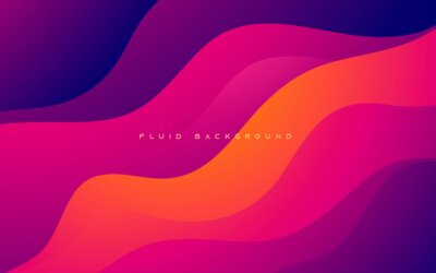 Obraz Colorful wavy gradient shape abstract background