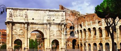 Colosseo i Arco di Costantino, świetna Roma