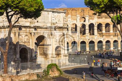 Colosseo i Arco di Costantino w Rzymie