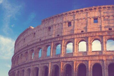 Obraz Colosseum na zachodzie słońca w Rzymie