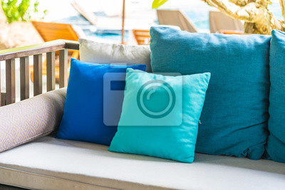 Obraz Comfortable pillow on sofa decoration outdoor patio