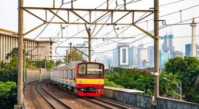 Commuter train in Jakarta, the capital of Indonesia