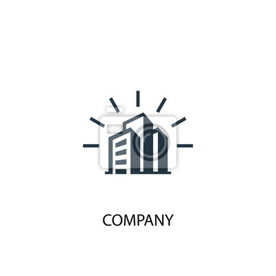 Obraz company icon. Simple element illustration. company concept symbol design. Can be used for web and mobile.