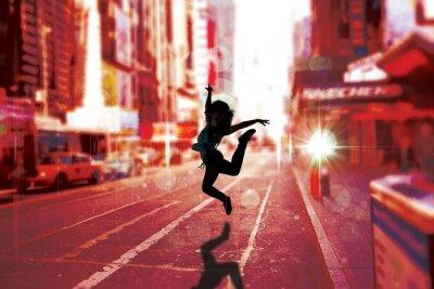 Obraz Composite obraz przerwy ładna tancerka