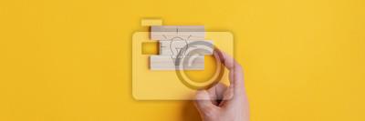 Obraz Conceptual image of vision and idea