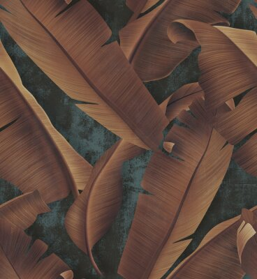 Obraz Concrete wallpaper with autumn tree leaves