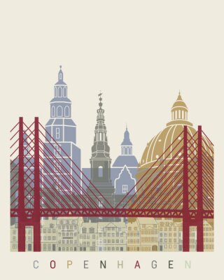 Obraz Copenhagen skyline plakat