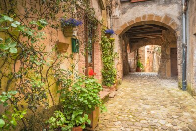 Obraz Corners of Tuscan medieval towns in Italy