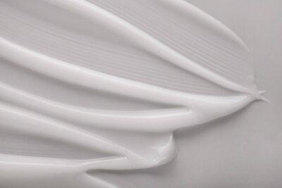 Obraz Cosmetic cream milk texture white colored background